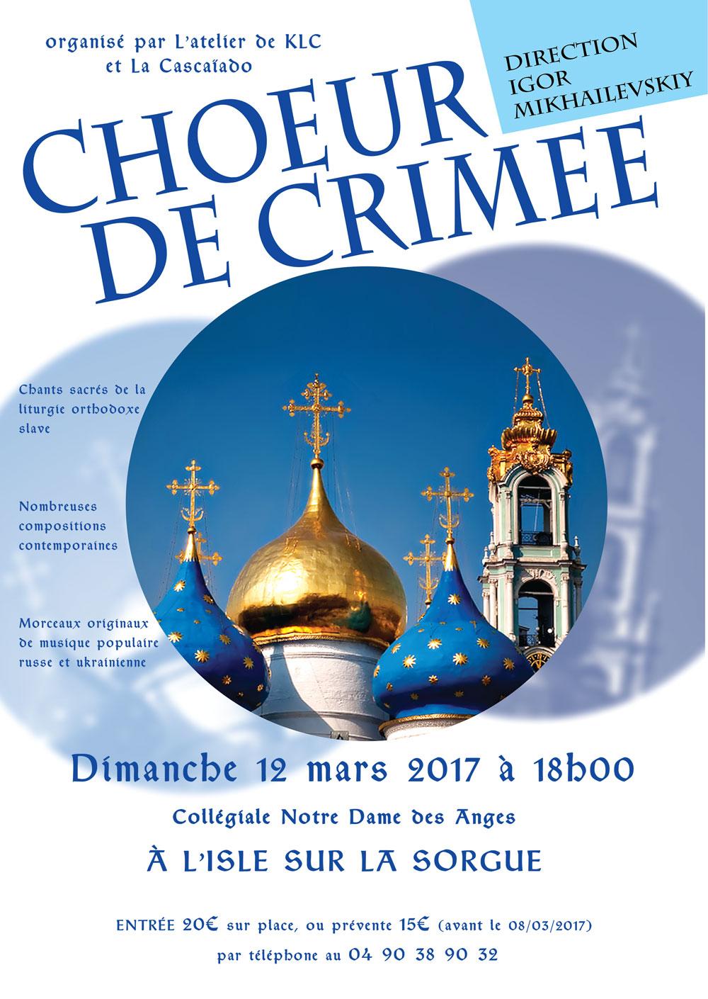 affiche du concert du choeur de Crimée