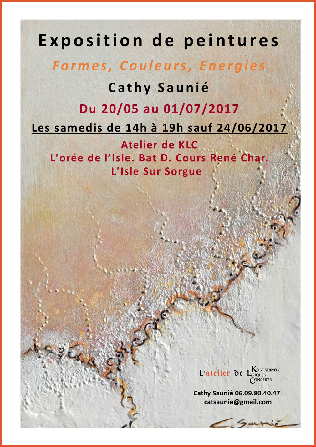 affiche expo Cathy Saunie