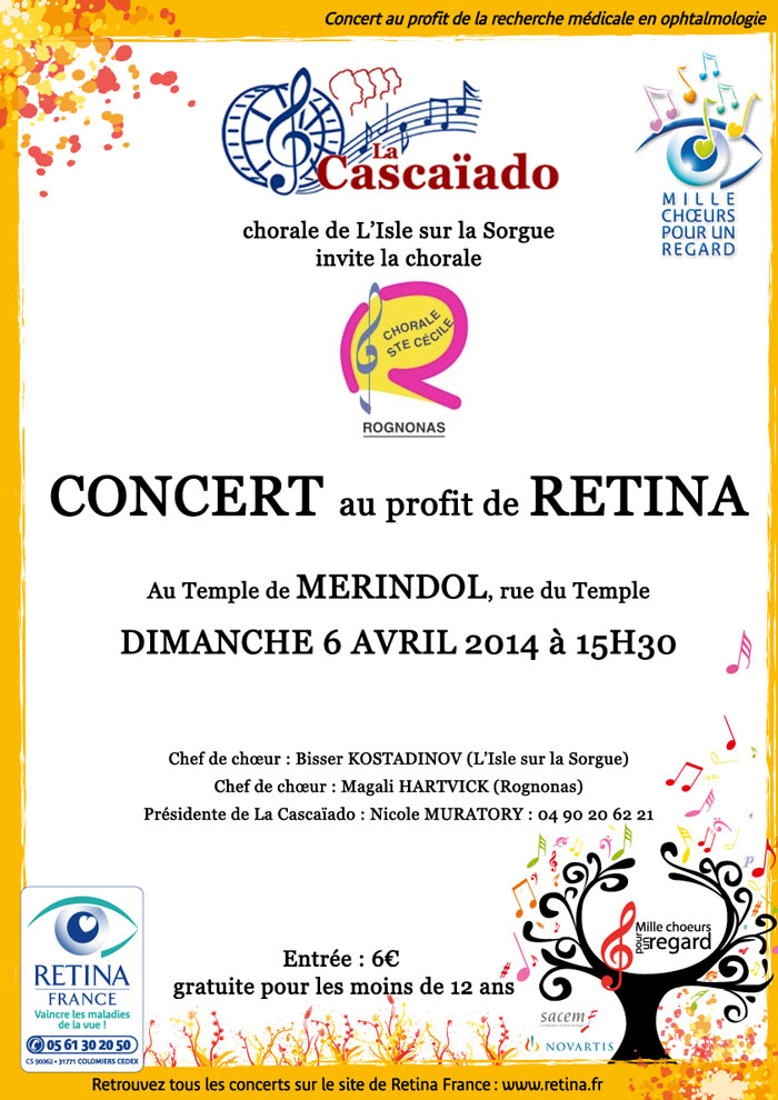 Affiche concert Cascaiado Mérindol