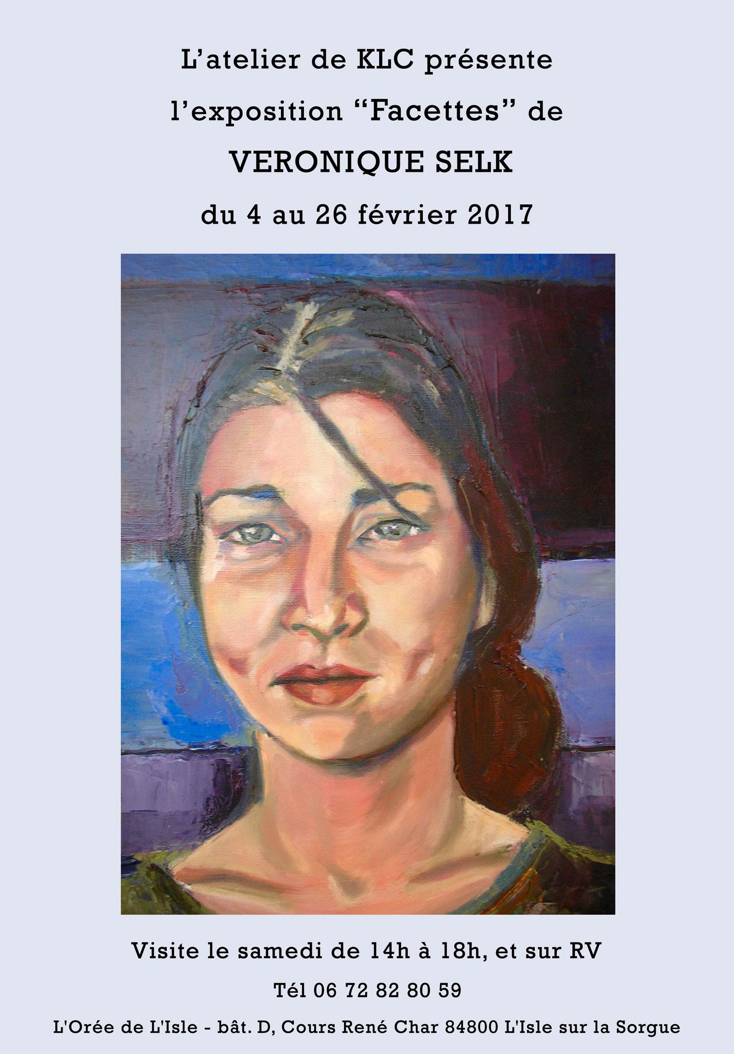affiche de l'exposition de février 2017 à L'atelier de KLC