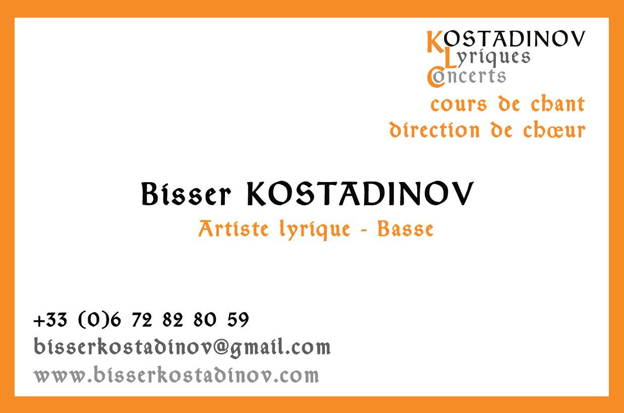 Carte de visite Bisser Kostadinov