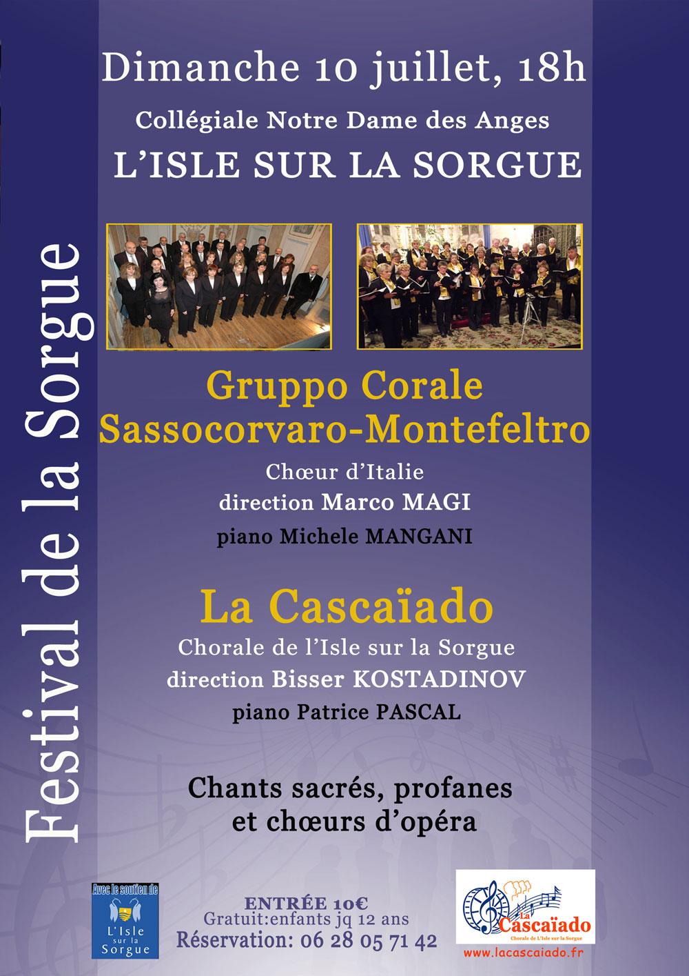 affiche du concert du 10 juillet 2016
