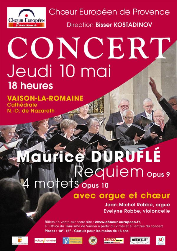 affiche concert Durufle mai 2018