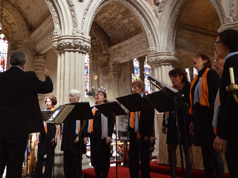 Concert à Rosslyn Chapel plan serré